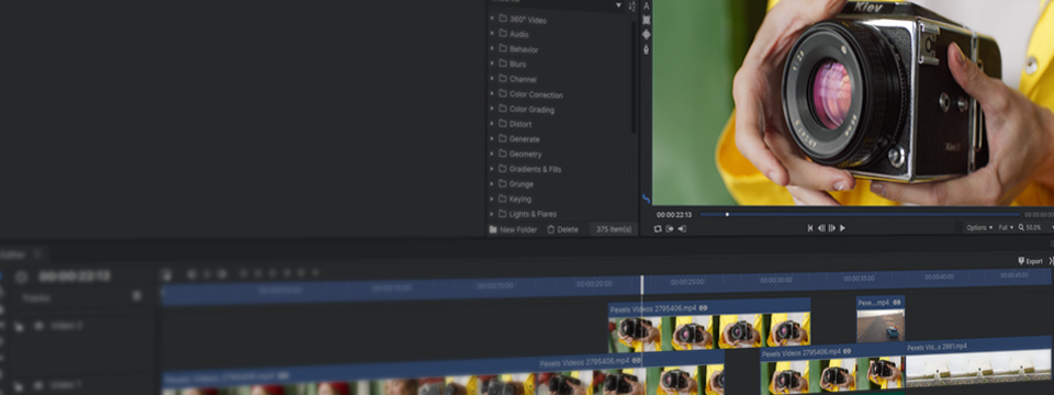 Style: Dark Theme HitFilm Express add-on pack preview